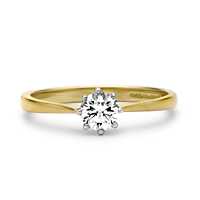 Solitaire Diamond Ring, 0.43Ct