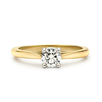Solitaire Diamond Ring, 0.25Ct