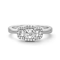 Asscher Triple Cluster Ring