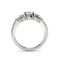 Peg Set Five Diamond Ring