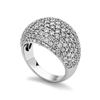 Pave Diamond Cluster Ring