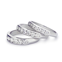 Platinum & Diamond Half Eternity Ring 0.44Ct