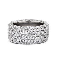 Pave Set Full Eternity Diamond Ring 5.25Cts