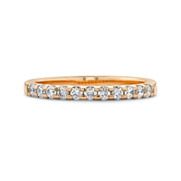 18ct Rose gold Cog diamond eternity ring