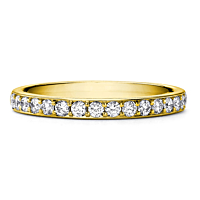Yellow Gold Half Eternity Ring