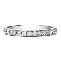 Platinum Claw Set Half Eternity Ring