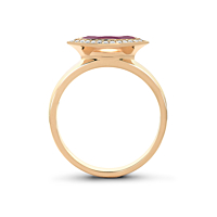 Garnet & Diamond Cluster Ring
