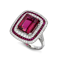 Rubelite And Ruby Ring