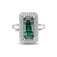Tourmaline & Diamond Cocktail Ring