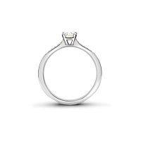 Solitaire Ring With Diamond Shoulders