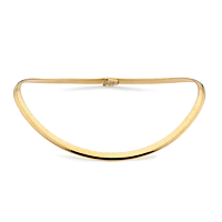 18Ct Gold 3Mm Flexible Collar