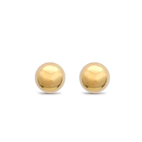 18Ct Yellow Gold Ball Studs, 4Mm