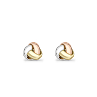 18Ct Gold Knot Stud Earrings