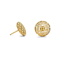 18ct gold lattice stud earrings