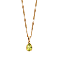 Pear Shaped Peridot Pendant