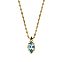 Marquise Aquamarine Pendant