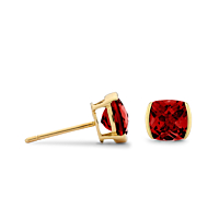 Cushion Garnet Earrings