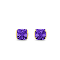 Cushion Amethyst Earrings