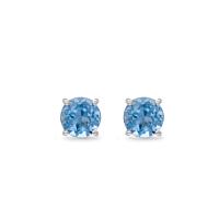 Topaz Round Stud Earrings