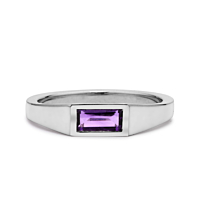 Amethyst Baguette Ring