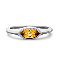 Citrine Marquise Ring