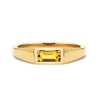 Baguette Citrine Ring