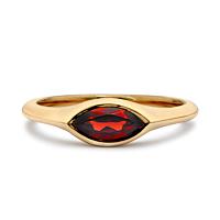 Marquise Garnet Ring