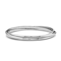 White Gold Russian Bangle
