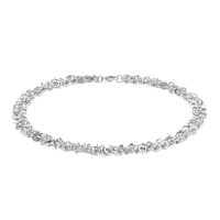 Silver Multi-Link 45Cm Necklace