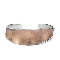Silver & Rose Gold Plated Torque Cuff