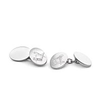Masonic Crest Silver Cufflinks