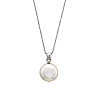 Coin Pearl Pendant