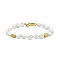 Keshi Pearls And Gold Bracelet
