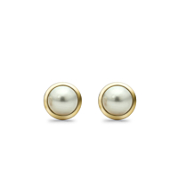 18Ct Yellow Gold And Pearl Stud Earrings