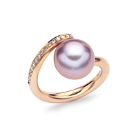 Deep Pink Pearl Ring