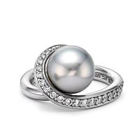 Tahitian Pearl Swirl Ring