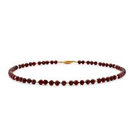 Garnet & Pearl 40Cm Necklace