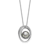 Grey Tahitian Pearl Swirl Pendant
