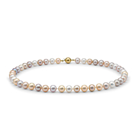 Pastel Multicolour Freshwater Pearl Necklace