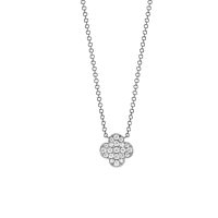 18Ct White Gold And Diamond Pave Set Pendant