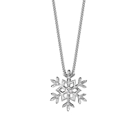 18Ct White Gold Diamond Set Snowflake Pendant.