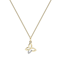 18ct gold and Diamond set butterfly pendant