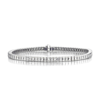 Asscher Cut Diamond Line Bracelet