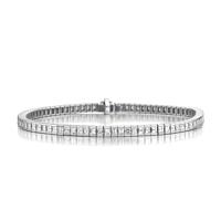 Asscher Cut Diamond Line Bracelet