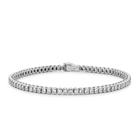 Rub-Over Set Diamond Bracelet