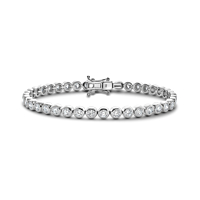 Rub-over set Diamond line bracelet