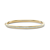 18ct gold hinged Diamond bangle