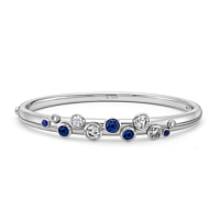 Sapphire And Diamond Bangle