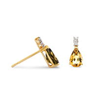 Citrine & Diamond Earrings