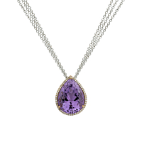 Pear Shaped Amethyst Pendant